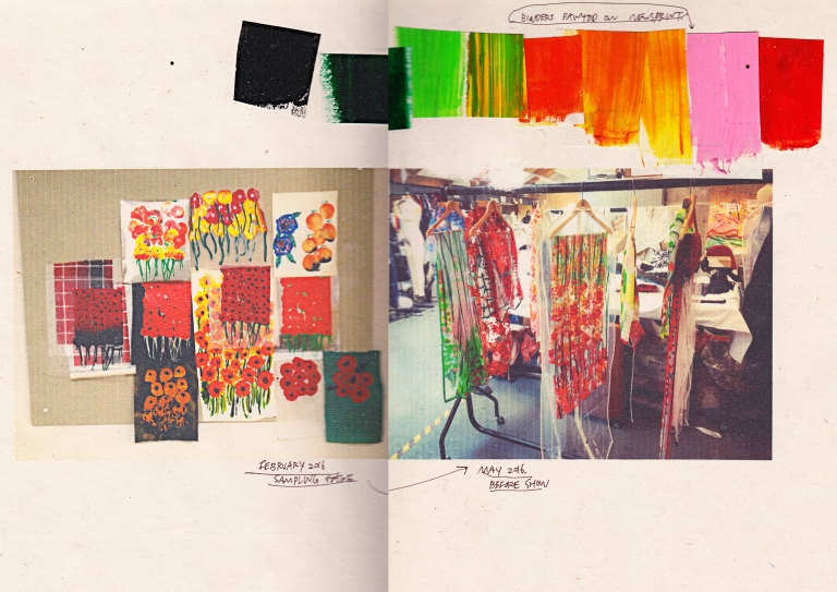 The Withering Flower / Fabric Development by TJC