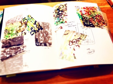 My little black book of floral swatches 神秘的黑色小冊子,紀錄著一塊塊印染sample